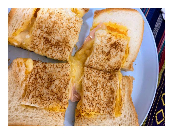 くり抜き!卵とチーズとろとろ